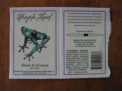 Purple Toad Winery Bottle Label Stickers ~Craft Wine Logo Vineyard Decals~ NEW!
