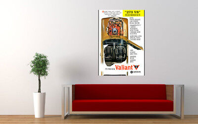 "1965 AP6 CHRYSLER VALIANT 273 V8 AD PRINT WALL POSTER PICTURE 33.1""x23.4"""