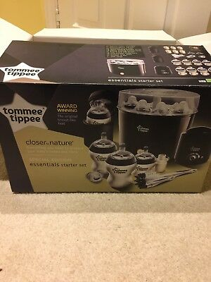 Tommee Tippee Closer to Nature electric Steriliser and Bottle Warmer (black)