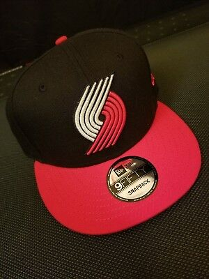NEW ERA 9 Fifty NBA Portland Trail Blazers Black Red Snapback Cap ... 9778585f6455