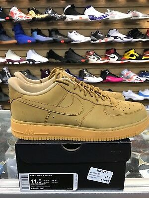 Nike Mens Air Force One 1 Low '07 WB Flax AA4061-200 Wheat 100%AUTHENTIC NEW DS!