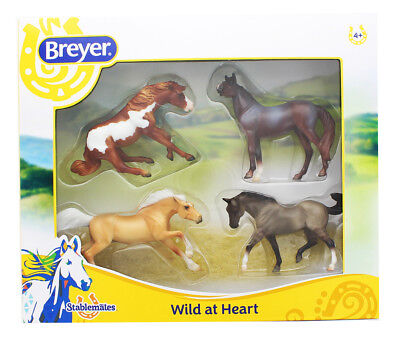 Breyer 1:32 Stablemates Model Horse 4-Pack: Wild at Heart