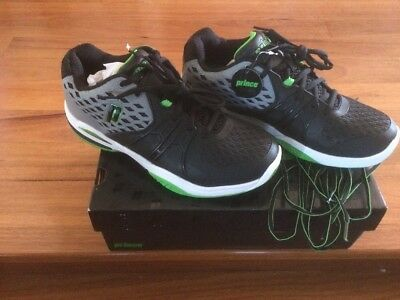 **Brand new** PRINCE Sz EUR 43 NWT Men's black green all hard court tennis Shoes