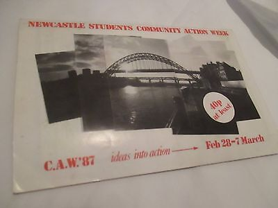 Newcastle Students Community Action Week Pamphlet Feb 1987