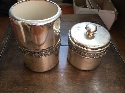 Vintage Italian SILVER PLATED WINE cooler & ice bucket? Shabby chic Decorative