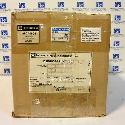 LE1D093A62 Telemecanique Schneider Non Combo Enclosed Starter LRD10 overload NEW