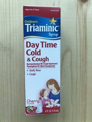 Triaminic Childrens Day Time Cold Cough Syrup Cherry 4 Oz Pack