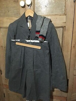 Original rare1940/50s grey wool boys school uniform unworn.Theatre. Re-enactment