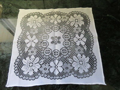 "Vintage Lace Flower Doily - White - 11"" By 11"""