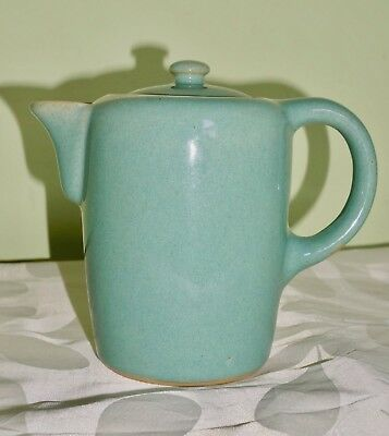 Bourne Denby Blue Green Coffee Pot Tea Pot 1 Pint 14 cm tall