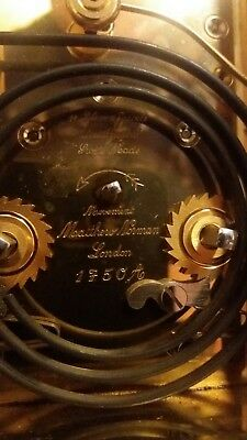 MATTHEW NORMAN SWISS MADE No 1750A CARRIAGE CLOCK. 8 DAY. CHIMES