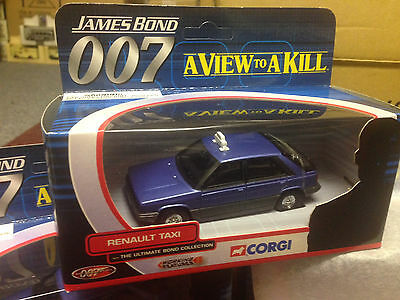 Corgi James Bond 007 Renault Taxi A View To A Kill Ty06402  Mint In Mint Box