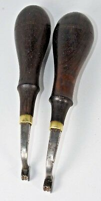 Lot of 2 Vintage Leather Tool - H.F. OSBORNE Double Edge Creaser - Size 2 & 3