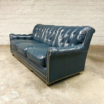 Outstanding Vintage Hancock And Moore Tufted Blue Chesterfield Sofa Machost Co Dining Chair Design Ideas Machostcouk