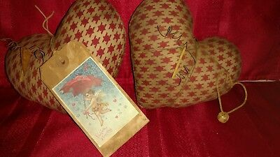 Primitive Grungy Heart Bowl Fillers Valentines Day (2)  Grubby Cinnamon STPC