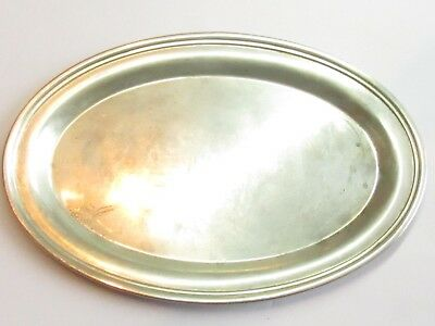 PRETTY Sterling Silver Oval 9 inches by 6 inches Tray 110 GRAMS ANT#153