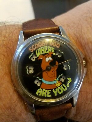Scooby Doo Warner Bros Watch Collection, Animated Dial, Man's Fossil vg cond