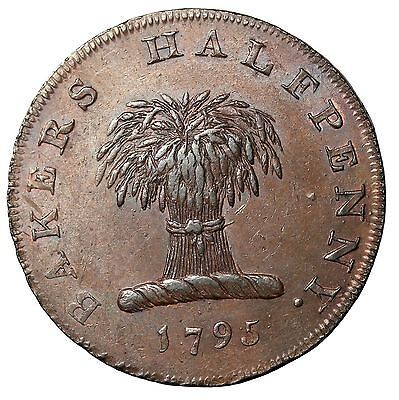 1795 Great Britain Middlesex Slavery Of Baking Halfpenny Conder Token D&H-297