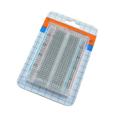 Mini Transparent Solderless Breadboard 400 Tie-points Universal ASS