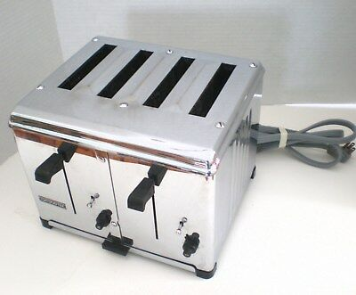 Toastmaster 4 Slice Commercial Toaster 1D2 Chrome McGraw Electric 2450 Watts EUC