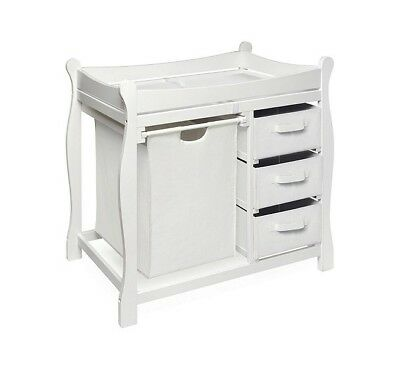 Changing Table Set Small Diaper Organizer Table Stand Baby Boy Nursery Furniture