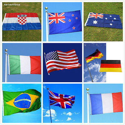 5ft X 3ft World Flags National Country Flag Rugby Football World Cup Decorations