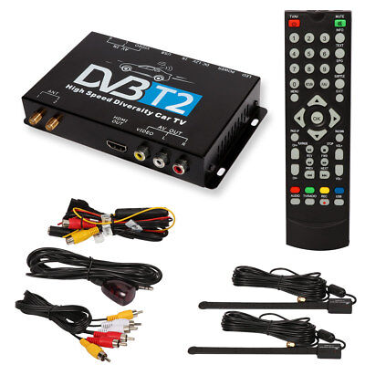 HDTV Car DVB-T2 DVB-T MULTI PLP Digital TV Receiver automobile DTV box Two Tuner