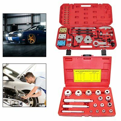 17Pcs Wheel Bearing Race Bearing Installer + Timing Locking Tool Camshaft Engine