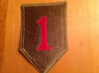 Ww2 Us Army 1St Infantry Division Patch