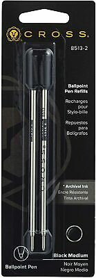 Cross Medium Black Ballpoint Pen Refills 8513-2 (2 PK) New - Sealed