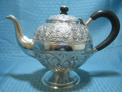 Vintage Malaysian Islamic Solid Silver Teapot Marked 392 grams