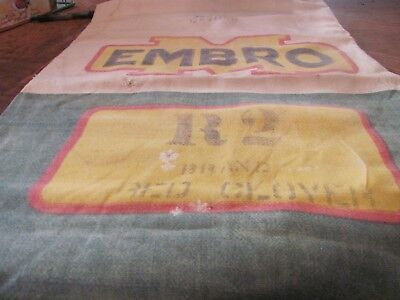 Embro Cotten Red Clover Seed Sack Uncut