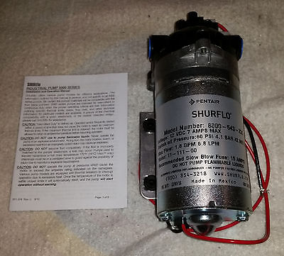NEW - SHURflo 8000-543-236 Diaphram Pump (12V - 1.8 GPM - 60 PSI)