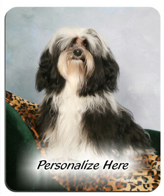 Havanese    black & white  ( 23 )   Personalized Mouse Pad