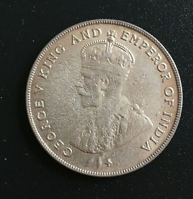 1919 Straits Settlements One Dollar Silver Coin