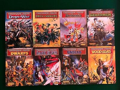 Warhammer Armies 8 Books Collectors Items