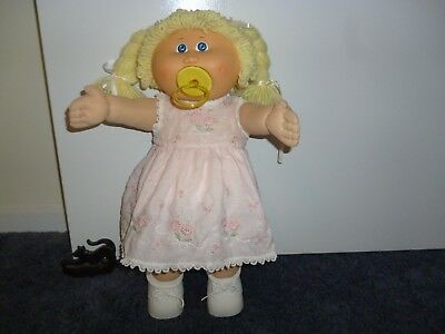 "Doll Dress  Homemade fits 16""  Cabbage Patch - ex cond"