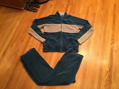 Vintage Fred Perry Sportswear Velour Tracksuit Designer Sweatsuit Jacket & Pants