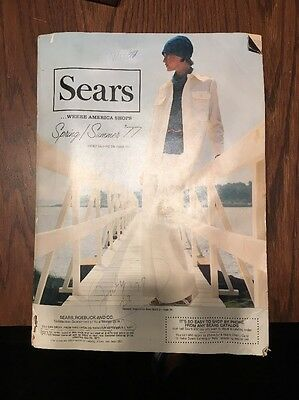 Vintage 1977 *Sears Roebuck Spring & Summer Catalog* Retro Fashion Electronics