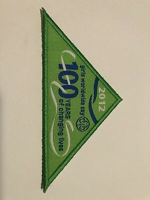 2012 Girls Worldwide Say 100  Years Of Changing Lives - Girl Guide Badge