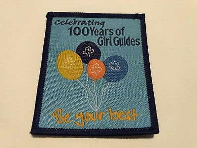 "Celebrating 100 Years Of girl guide Badge "" Be Your Best """
