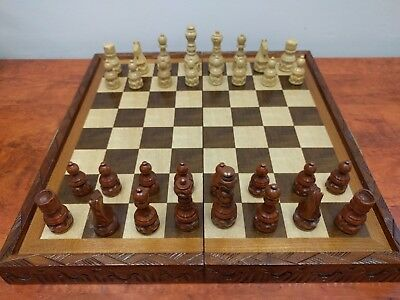 Wooden chess set complete with all pieces