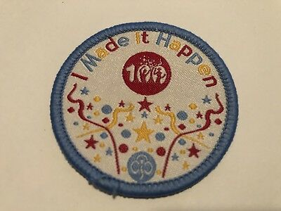I Made It Happen 100 Years of girl guiding UK -  Girl Guide Badge
