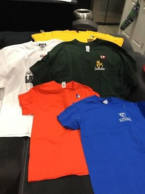 Large Lot Of Six Adult NCAA college Fan Shirts - All New, Mixed Sizes
