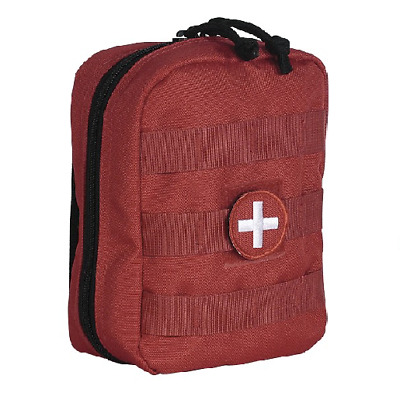 "Voodoo Tactical 15-958416000 Red Medical (EMT) Pouch 5""L x 2 1/2""W x 7""H"
