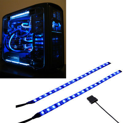 Blue Modding Pc Case Light Led Kit (Twin 30Cm Strips) Molex 20Cm Tails
