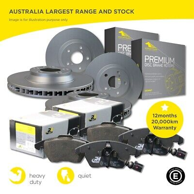 BMW 520 525 530 E60 Front and Rear Brake Pads and 324mm F Rotor Full SET Sensor