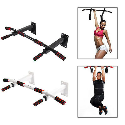Wall Mounted Pull Up Bar Chin Chinning Bracket Iron Home Gym Fitness Station Dip