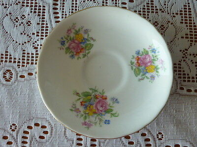Vintage New Chelsea England Fine Bone China Saucer Floral 1936+ Replacement