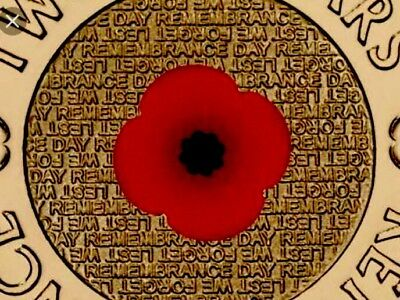 RSL 2012 $2 red poppy remembrance coin EX MINT ROLL #